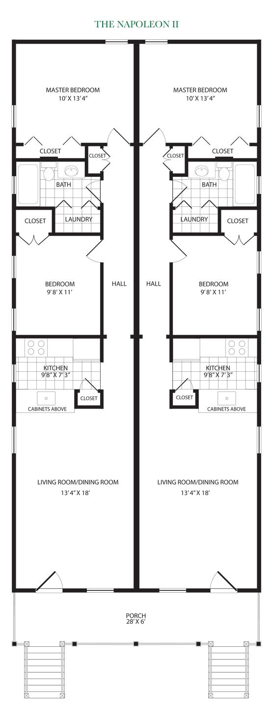 Napoleon ii build now for 2 bedroom shotgun house plans